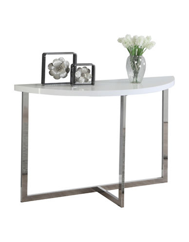 Monarch High Gloss Console Table-WHITE-One Size