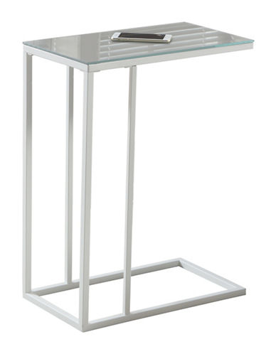 Monarch Mirror Top Accent Table-WHITE-One Size