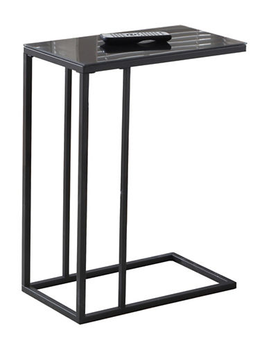 Monarch Glass Top Accent Table-BLACK-One Size