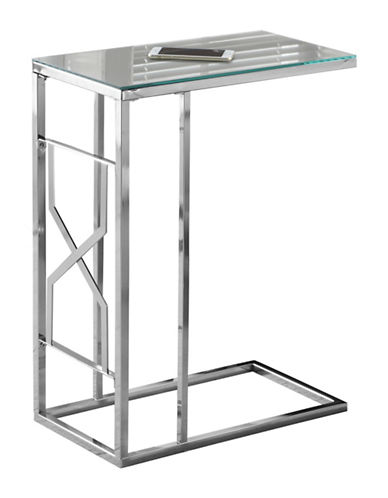 Monarch Mirror Top Accent and Snack Table-SILVER-One Size
