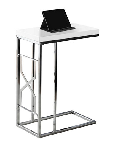 Monarch Hourglass Accent and Snack Table-WHITE-One Size