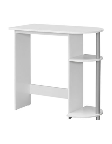 Monarch Juvenile Two-Shelf Computer Desk-WHITE-One Size