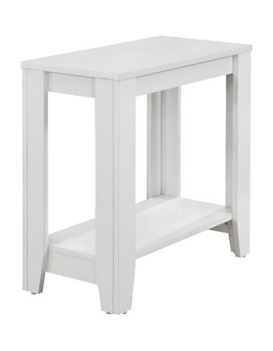 Monarch Accent Table with Shelf-WHITE-One Size