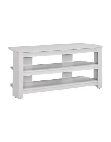 Monarch Modern Corner TV Stand-WHITE-One Size