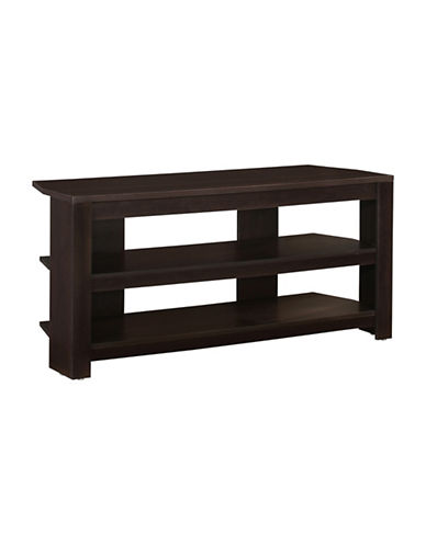 Monarch Modern Corner TV Stand-BROWN-One Size