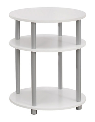 Monarch Disc Accent Table-WHITE-One Size