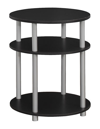 Monarch Disc Accent Table-BLACK-One Size