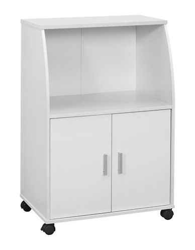 Monarch Rolling Kitchen Cart-WHITE-One Size