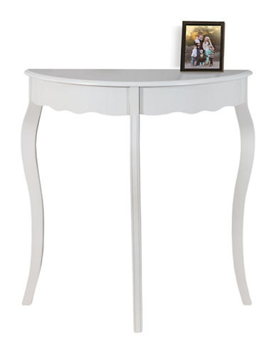 Monarch Scalloped Hall Console-WHITE-One Size