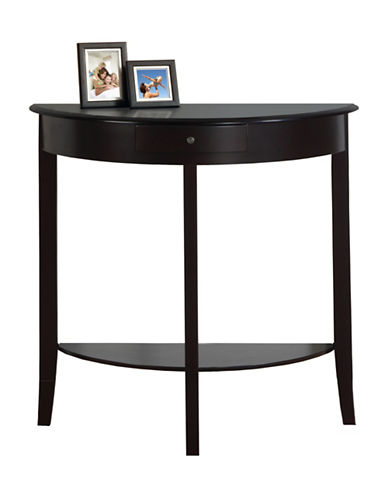 Monarch Demi-Lune Hall Console-RED-One Size