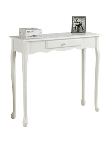 Monarch Traditional Hall Console-WHITE-One Size