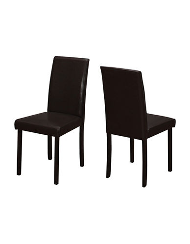 Monarch Set of Two Padded Dining Chairs-BROWN-One Size