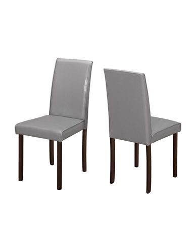 Monarch Set of Two Padded Dining Chairs-GREY-One Size