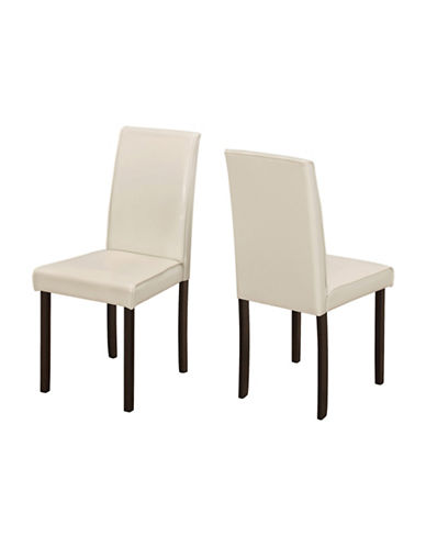 Monarch Set of Two Padded Dining Chairs-IVORY-One Size