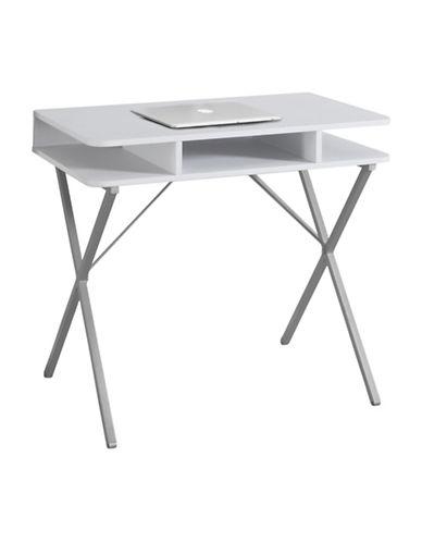Monarch Open-Concept Computer Desk-WHITE-One Size