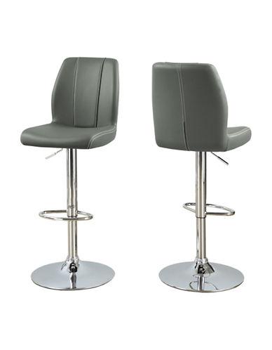 Monarch Sleek Brown Hydraulic Lift Barstool Set-GREY-One Size
