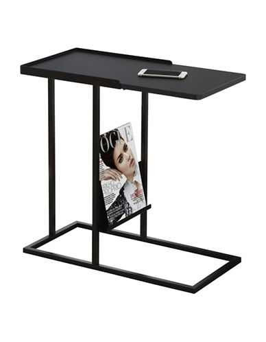Monarch Accent Table with Magazine Rack-BLACK-One Size