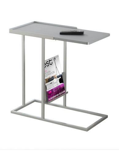 Monarch Accent Table with Magazine Rack-SILVER-One Size