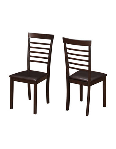 Monarch Set of Two Padded Ladder-Back Dining Chairs-CAPPUCINO-One Size