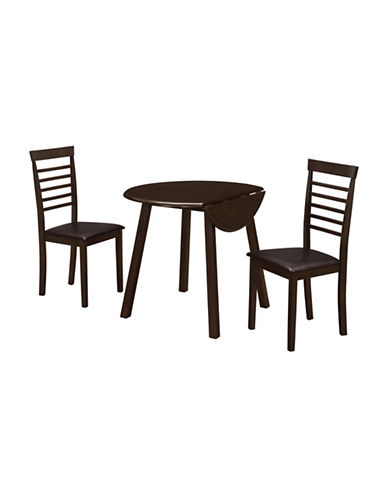 Monarch Three-Piece Dining Set-CAPPUCINO-One Size