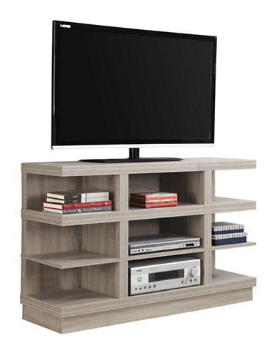 Monarch Open-Concept TV Stand-DARK TAUPE-One Size