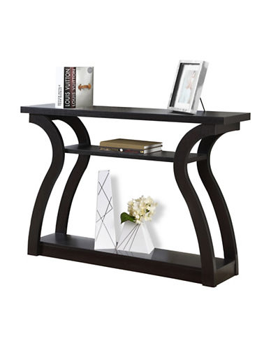 Monarch Curved Hall Console Accent Table-BROWN-One Size