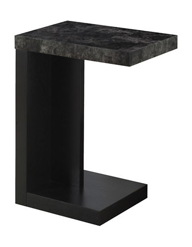 Monarch Overhang Accent Table-BLACK-One Size