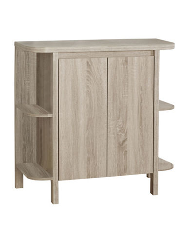 Monarch Reclaimed Wood-Look Home Bar-DARK TAUPE-One Size
