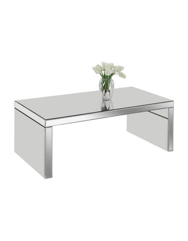 Monarch Mirrored Panel Coffee Table-SILVER-One Size