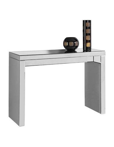 Monarch Mirrored Panel Console Table-SILVER-One Size