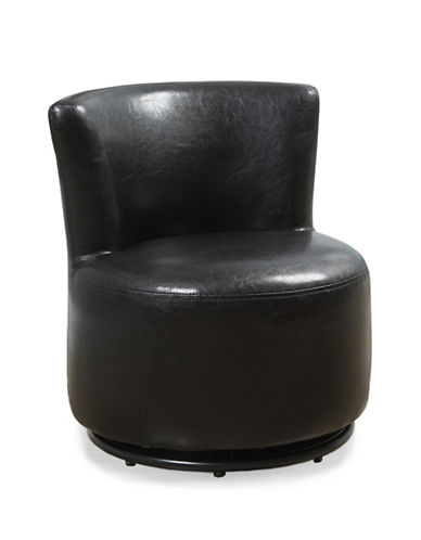 Monarch Faux Leather Juvenile Swivel Chair-BROWN-One Size