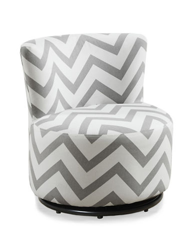 Monarch Chevron Print Juvenile Swivel Chair-WHITE-One Size