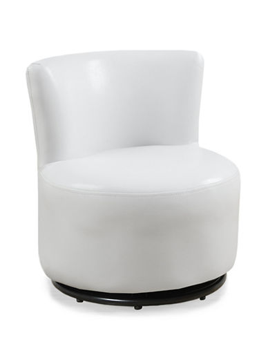 Monarch Faux Leather Juvenile Swivel Chair-WHITE-One Size