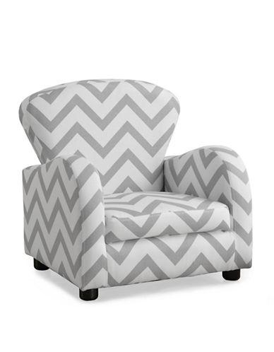 Monarch Chevron Juvenile Club Chair-WHITE-One Size