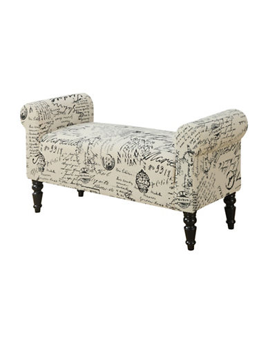 Monarch French Fabric Bench-VINTAGE-One Size