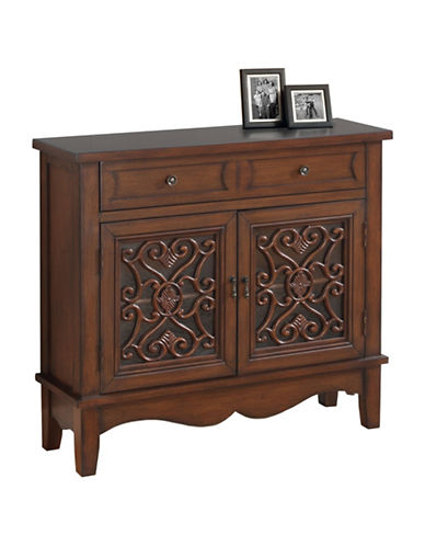 Monarch Traditional Vine Overlay Accent Chest-WALNUT-One Size