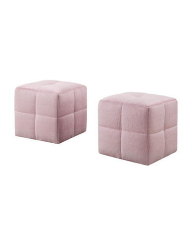 Monarch Quilted Ottoman Pair-PINK-One Size