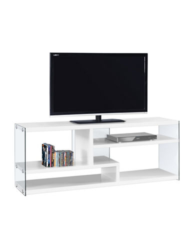 Monarch High-Gloss TV Stand-WHITE-One Size