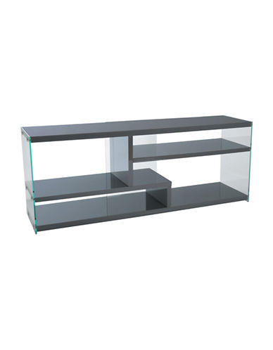 Monarch High-Gloss TV Stand-GREY-One Size