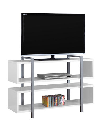 Monarch Bookcase and TV Stand-WHITE-One Size