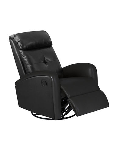 Monarch Bonded Leather Recliner-BLACK-One Size