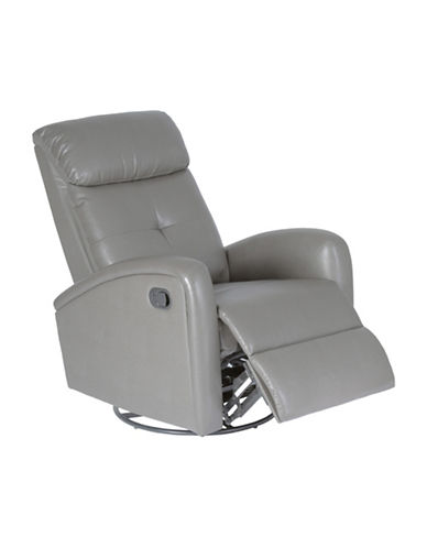 Monarch Bonded Leather Recliner-CHARCOAL-One Size