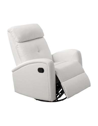 Monarch Bonded Leather Recliner-WHITE-One Size