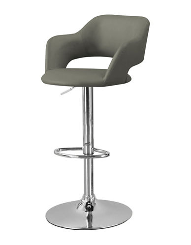 Monarch Curved Low-Back Barstool-LIGHT GREY-One Size