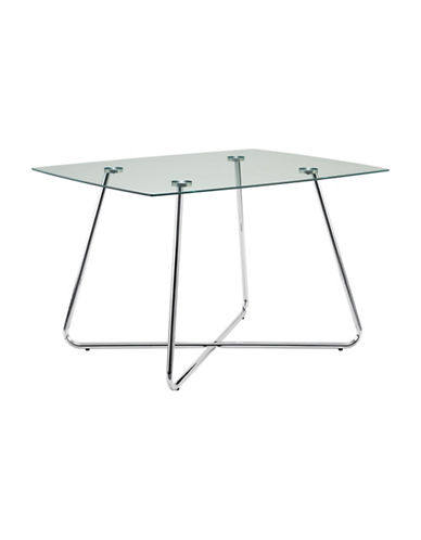 Monarch Chrome-Finish Dining Table-CHROME-One Size