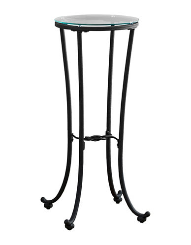 Monarch Hammered Metal Accent Table-BLACK-One Size