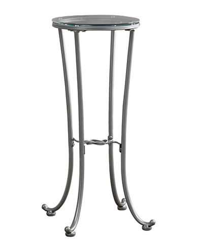 Monarch Hammered Metal Accent Table-SILVER-One Size