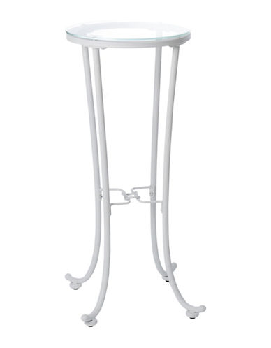 Monarch Hammered Metal Accent Table-WHITE-One Size