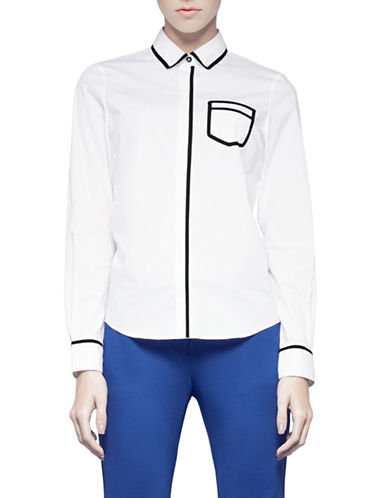 Pink Tartan Trompe Loeil Shirt-WHITE-8