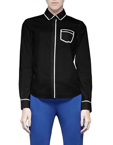Pink Tartan Trompe Loeil Shirt-BLACK-2